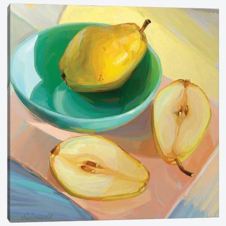 Pair Of Pears Canvas Print #SVZ48} by Svetlana Zyuzina Canvas Art