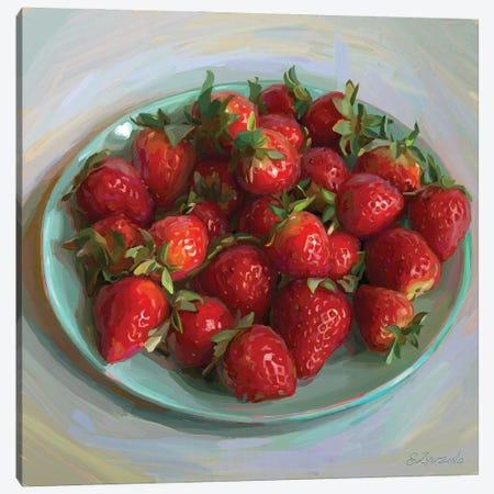 Farmer Market Strawberries Canvas Print #SVZ49} by Svetlana Zyuzina Canvas Art