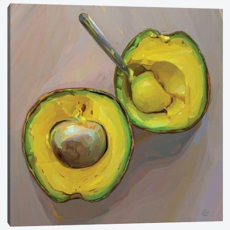 Avocado O'Clock Canvas Print #SVZ51} by Svetlana Zyuzina Art Print