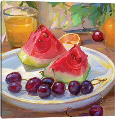 Summer Colours Dance Canvas Art Print
