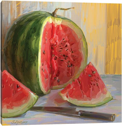 Watermelon. 5am Canvas Art Print