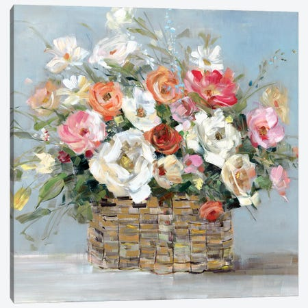 Flower Market Fresh Canvas Print #SWA100} by Sally Swatland Canvas Wall Art
