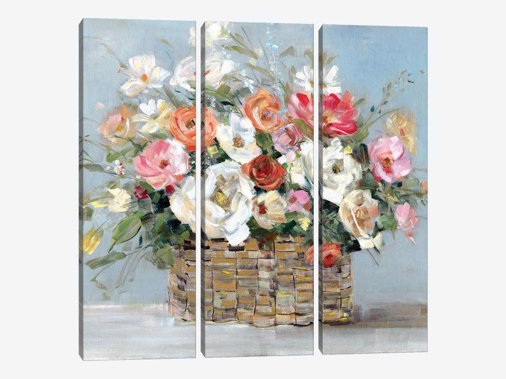 Flower Market Fresh by Sally Swatland 3-piece Canvas Art