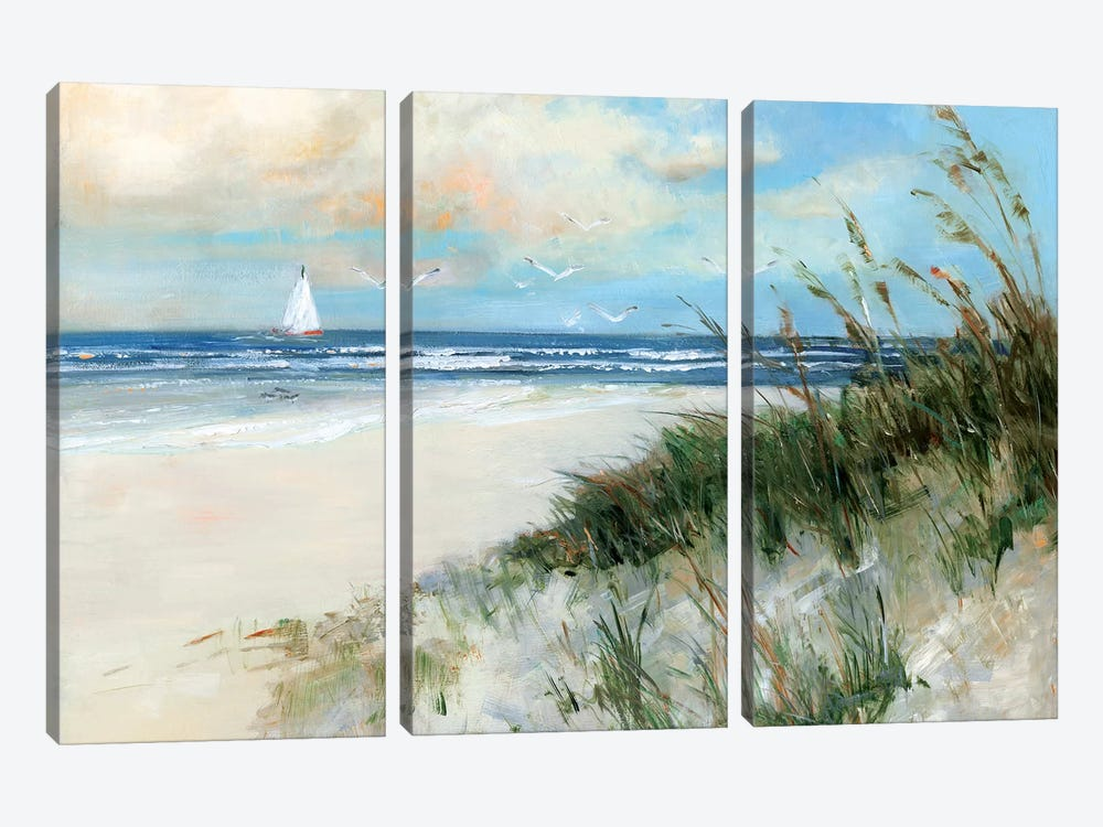 Oak Island Sunrise by Sally Swatland 3-piece Canvas Print