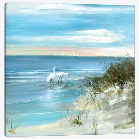 Shore Fishing Canvas Print #SWA106} by Sally Swatland Canvas Print