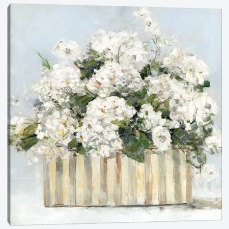 Sweet Hydrangeas Canvas Print #SWA116} by Sally Swatland Canvas Artwork