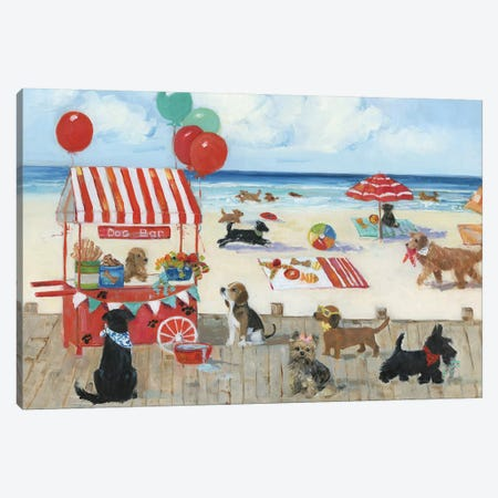 Beach Bark Park I Canvas Print #SWA123} by Sally Swatland Canvas Artwork