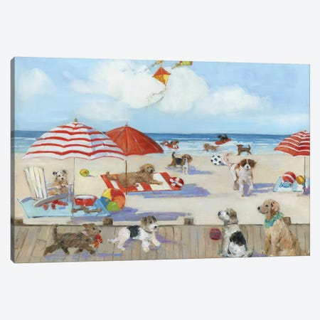 Beach Bark Park II Canvas Print #SWA124} by Sally Swatland Canvas Print