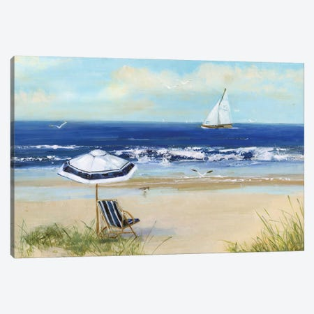 Beach Life I Canvas Print #SWA125} by Sally Swatland Canvas Art Print