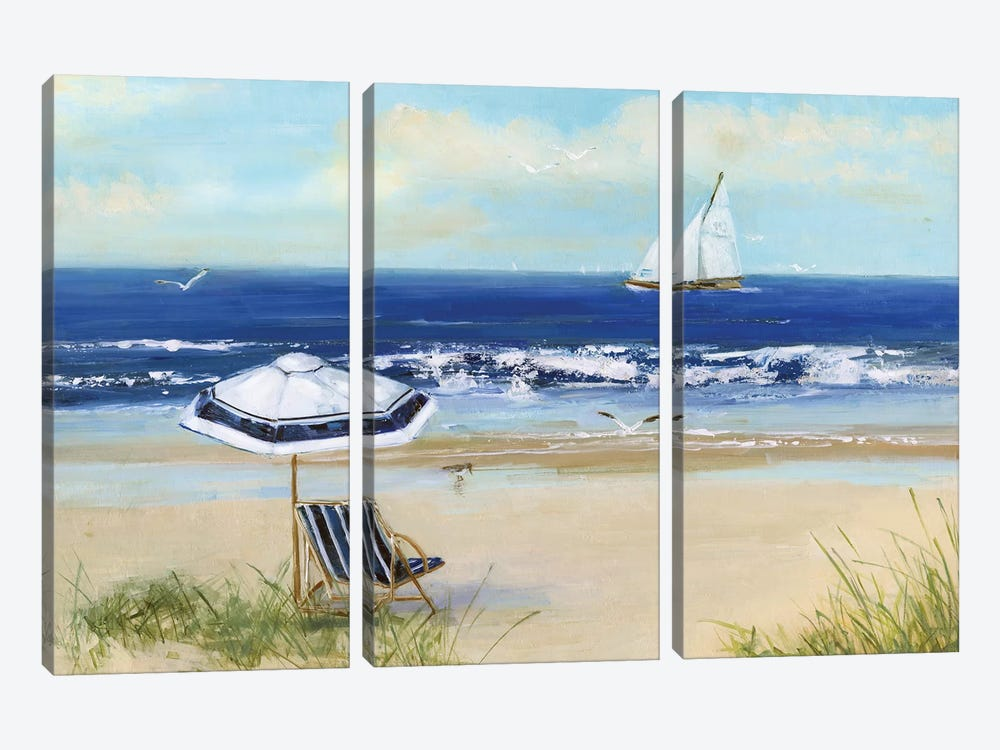 Beach Life I by Sally Swatland 3-piece Canvas Art Print
