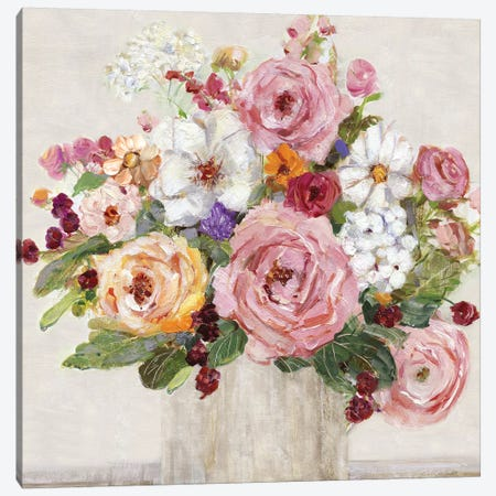 Becoming Blush II Canvas Print #SWA128} by Sally Swatland Canvas Artwork
