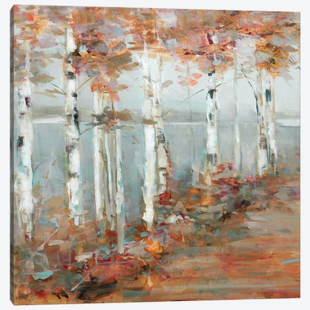 Birch Walk I Canvas Print #SWA129} by Sally Swatland Canvas Wall Art