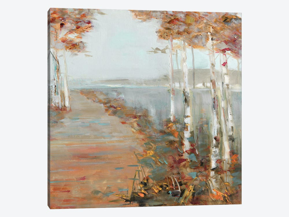 Birch Walk II by Sally Swatland 1-piece Canvas Art Print