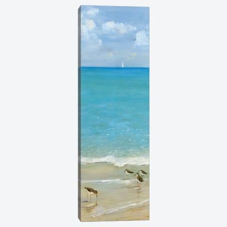 Brunch on the Beach I Canvas Print #SWA131} by Sally Swatland Canvas Print