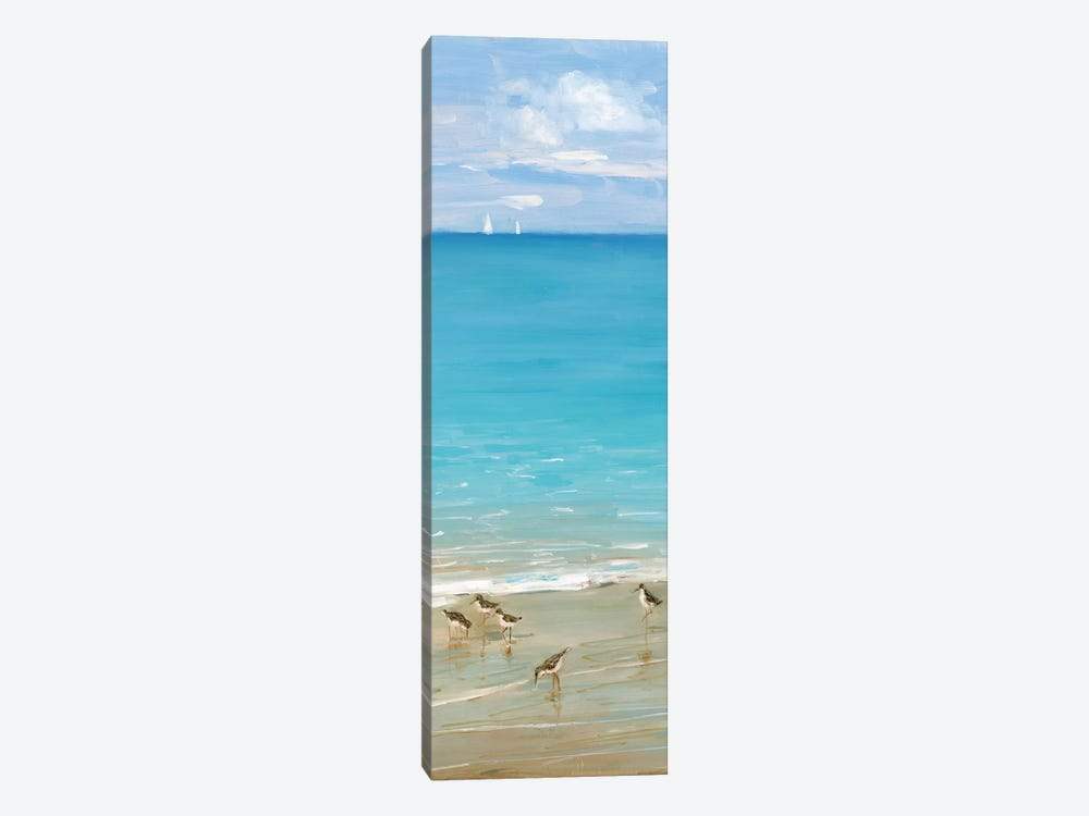 Brunch on the Beach II by Sally Swatland 1-piece Canvas Print