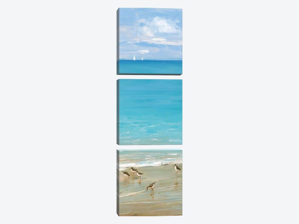 Brunch on the Beach II by Sally Swatland 3-piece Canvas Art Print
