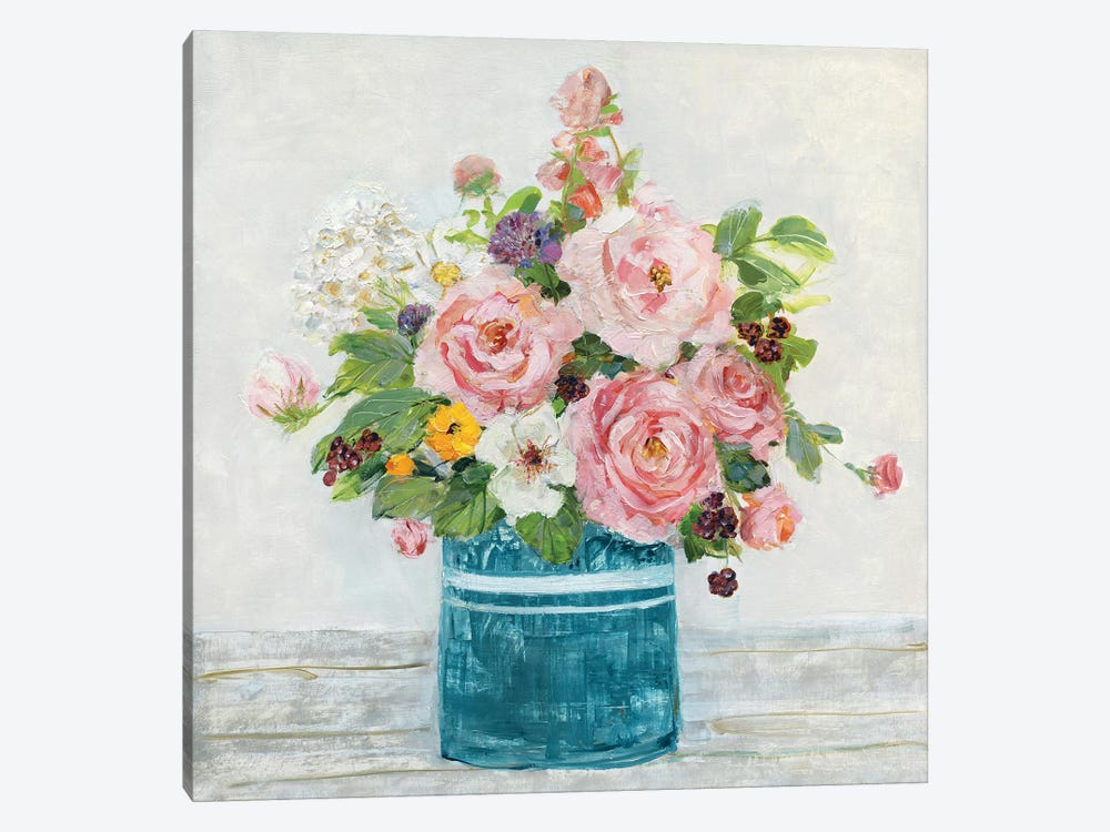 Cottage Garden I by Sally Swatland 1-piece Canvas Wall Art