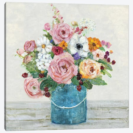 Cottage Garden II Canvas Print #SWA134} by Sally Swatland Canvas Artwork