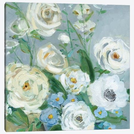 Painterly Garden II Canvas Print #SWA146} by Sally Swatland Art Print
