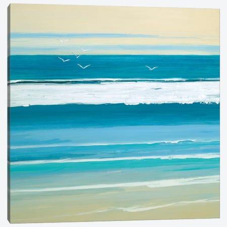 Sunny Seaside III Canvas Print #SWA151} by Sally Swatland Canvas Art Print