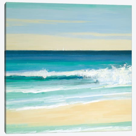 Sunny Seaside IV Canvas Print #SWA152} by Sally Swatland Art Print