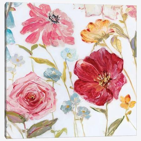 Wildflower Whimsy I Canvas Print #SWA153} by Sally Swatland Art Print