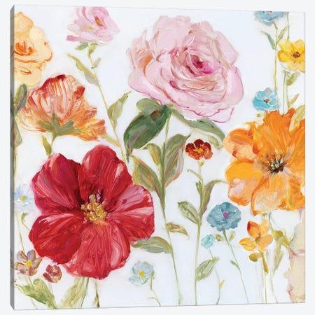 Wildflower Whimsy II Canvas Print #SWA154} by Sally Swatland Canvas Wall Art