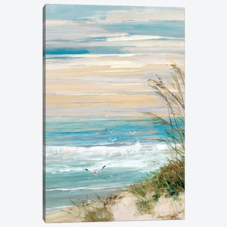 Beach at Dusk Canvas Print #SWA155} by Sally Swatland Canvas Wall Art