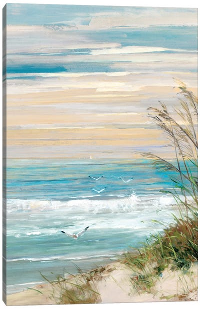 Beach at Dusk Canvas Art Print