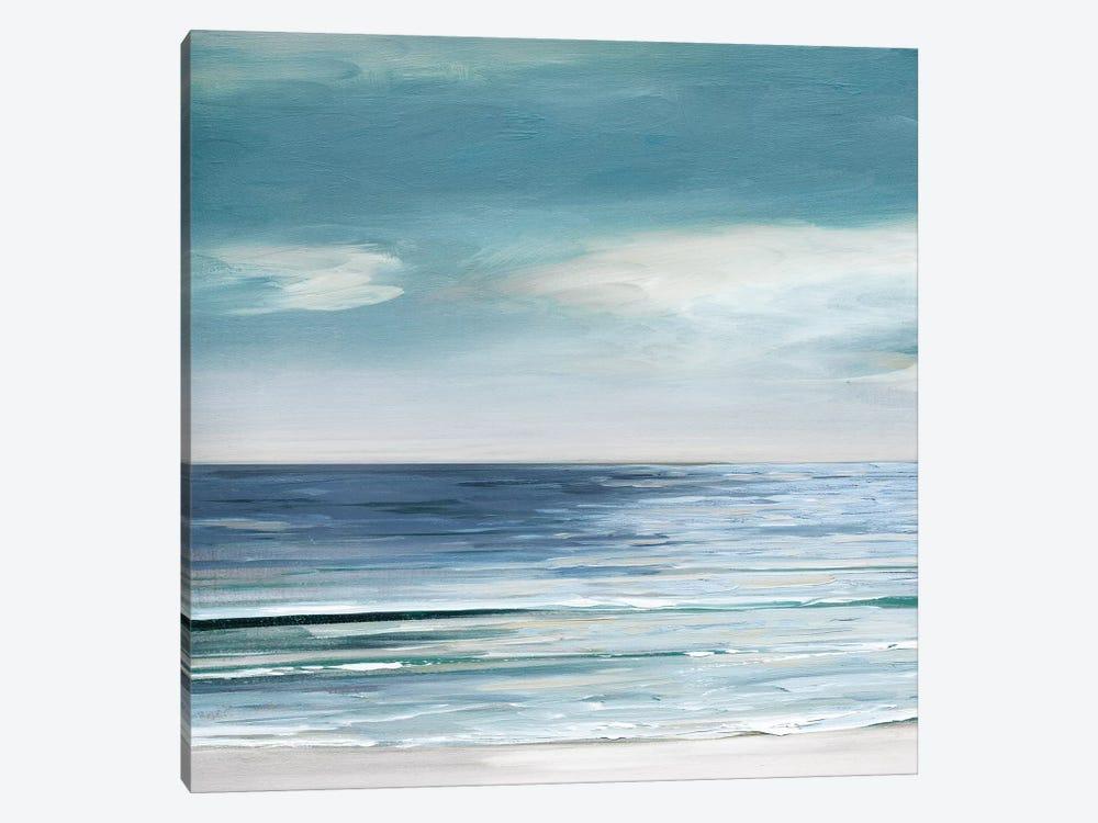 Blue Silver Shore I by Sally Swatland 1-piece Canvas Print