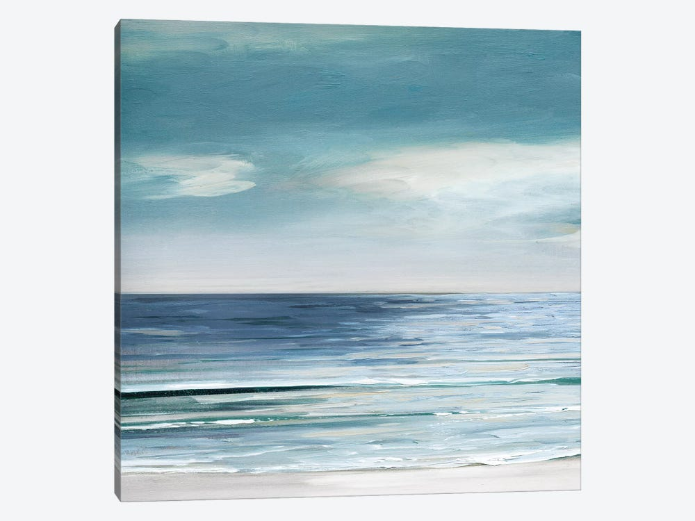 Blue Silver Shore I by Sally Swatland 1-piece Canvas Print