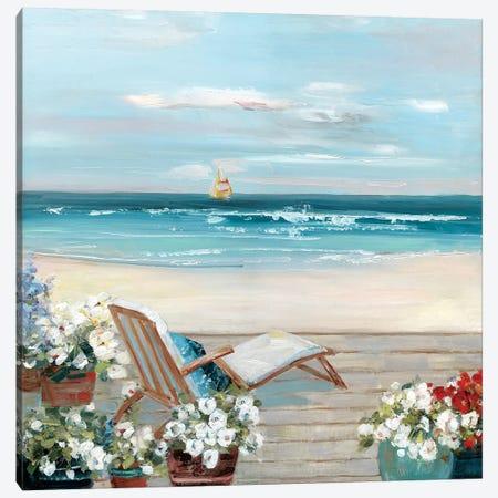 Beach House View Canvas Print #SWA165} by Sally Swatland Canvas Print