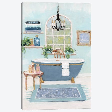 Blue Bath I Canvas Print #SWA166} by Sally Swatland Canvas Art Print