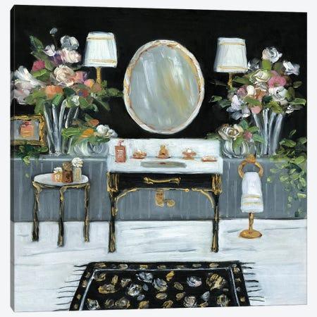 Femme Noir Bath III Canvas Print #SWA169} by Sally Swatland Canvas Wall Art