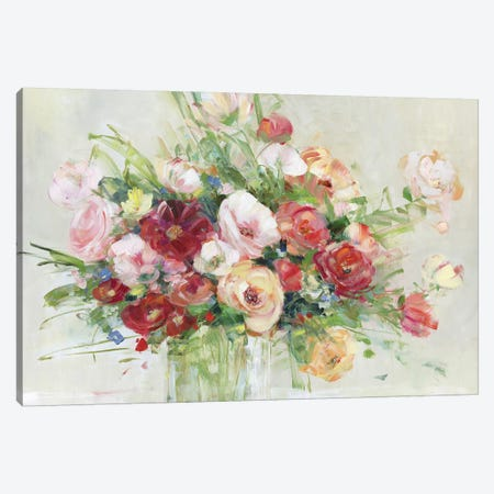 Just Peachy Canvas Print #SWA170} by Sally Swatland Art Print