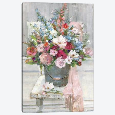 Sit Down For A Spell Canvas Print #SWA174} by Sally Swatland Canvas Wall Art
