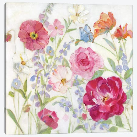 Summer Blooms Canvas Print #SWA175} by Sally Swatland Canvas Artwork