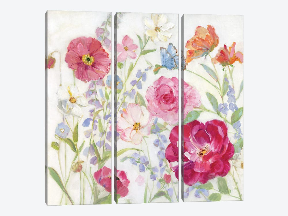 Summer Blooms by Sally Swatland 3-piece Canvas Artwork