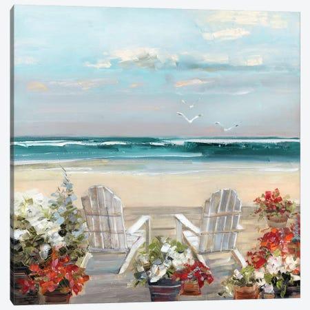 Summer Sea Breeze Canvas Print #SWA176} by Sally Swatland Canvas Artwork