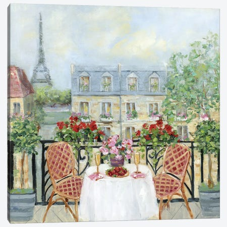 Toast to Paris Canvas Print #SWA177} by Sally Swatland Canvas Art