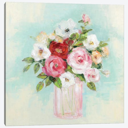 Arrangement of Spring II Canvas Print #SWA180} by Sally Swatland Canvas Wall Art