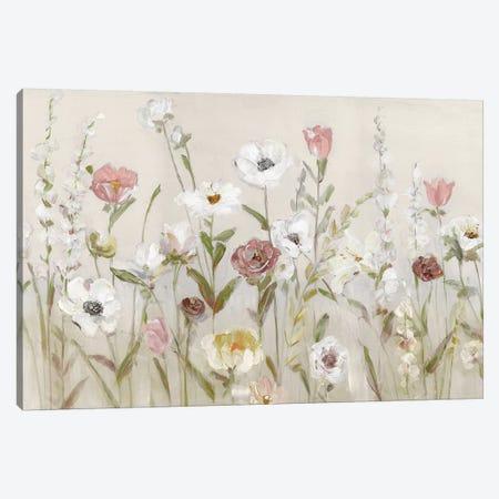 Bloomin Around Canvas Print #SWA181} by Sally Swatland Canvas Wall Art