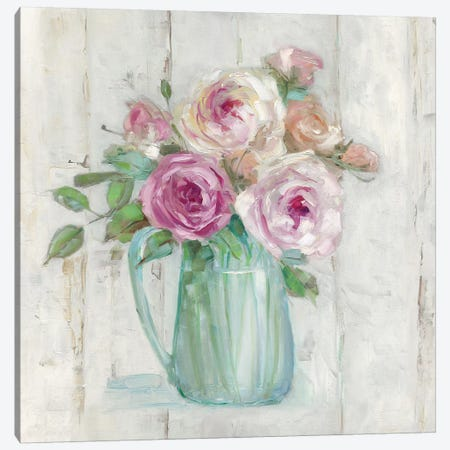 Cottage Sweet Bouquet I Canvas Print #SWA182} by Sally Swatland Canvas Artwork