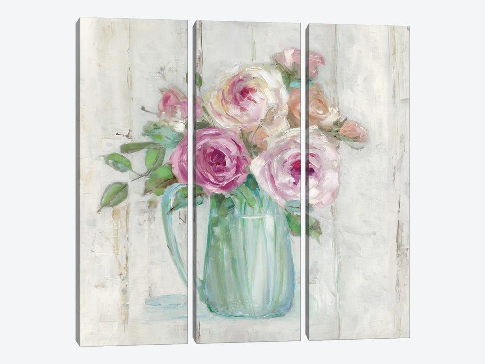 Cottage Sweet Bouquet I by Sally Swatland 3-piece Canvas Art