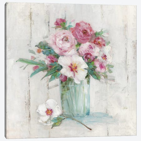 Cottage Sweet Bouquet II Canvas Print #SWA183} by Sally Swatland Canvas Artwork