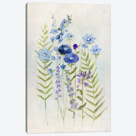 Cottage Wildflowers I Canvas Print #SWA186} by Sally Swatland Canvas Art Print