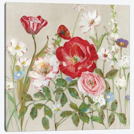 Garden Menagerie I Canvas Print #SWA189} by Sally Swatland Canvas Art