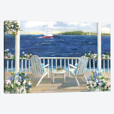 Summer Sail Canvas Print #SWA196} by Sally Swatland Canvas Artwork