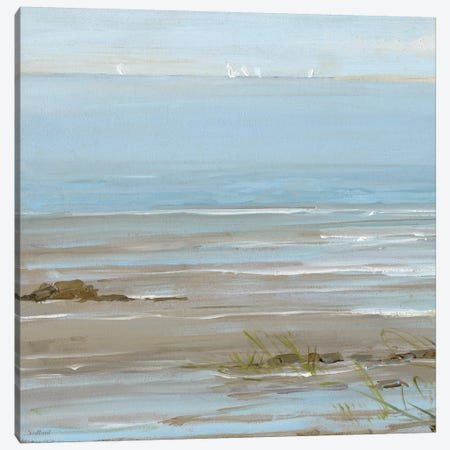Afternoon On The Shore I Canvas Print #SWA1} by Sally Swatland Canvas Artwork