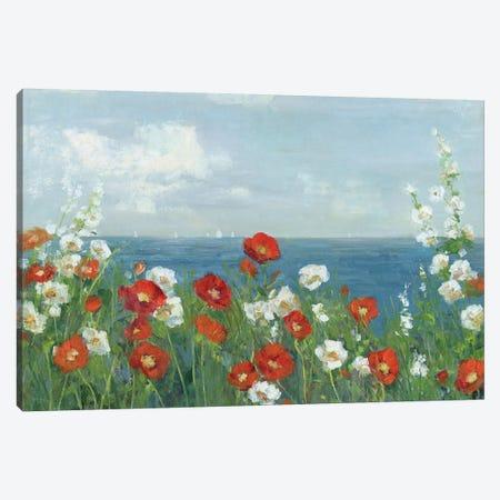 Through the Flowers Canvas Print #SWA200} by Sally Swatland Art Print